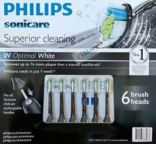 6 Philips Sonicare Superior Cleaning Toothbrush Replacement Tooth brush Heads
