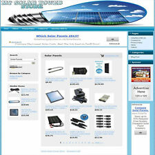 SOLAR POWER STORE - Highly Profitable Online Business Website For Sale + Domain