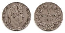 Lot pièce 5 Francs Louis Philippe I 1846 W argent TTB+ rare