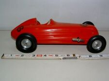 * 1950s ROCKETTE PRODUCTS CO. PLASTIC WIND-UP TOY OPEN WHEEL RACER 9 1/2