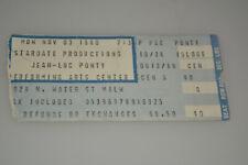 Jean-Luc Ponty Original Concert Ticket Stub Nov 1980 Milwaukee Pac Jazz Fusion