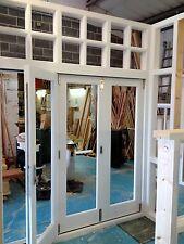 Bespoke Hardwood 3 Panes Bay Bi-Folding Doors with fanlight! Made to Measure!