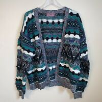 Vintage Concrete Mix Sweater Unisex Size Medium Coogi Crosby Style Textured Y2k