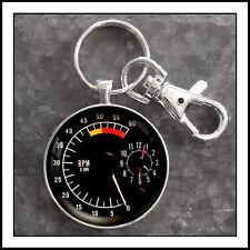 Vintage Trans Am Firebird Lemans Clock Tachometer photo keychain Gift 🎁