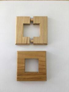 2 Stück Echtholzrosetten / Rosette Holz für Heizkörperstandkonsolen Abdeckung