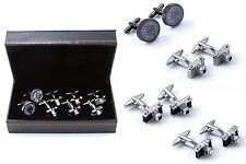 Camera Photographer Assorted 4 Pairs of Cufflinks Wedding Fancy Gift Box