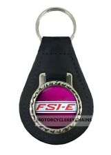 YAMAHA FS1E PURPLE MOTORCYCLE  leather  keyring keychain keyfob
