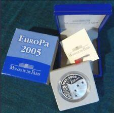 PIECE 1,1/2 EUROS BE ARGENT 2005 «EUROPA» MONNAIE DE PARIS .COFFRET COMPLET