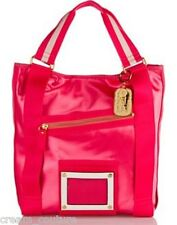 "Juicy Couture Large Pink ""Heart Medallion"" Tote Handbag YHRUS066 NEW MSRP $228"