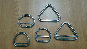 Triangle, Clew and D Rings Stainless Steel Sailmaker Products Seasure