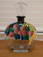 Punto Arte Made In Italy Hand Painted Enamel Glass Bottle with Stopper