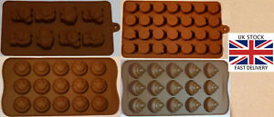Silicone chocolate moulds Emoji Smiley Poo Animals-UK STOCK-kitchen-baking