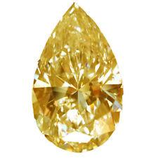 Pear Cut Moissanite Diamond 4 Ring 2.12 ct vvs1/9.54 Mm Orange Yellow Loose