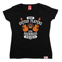 God Guitar Drummers Heroes Too WOMENS T-SHIRT Guitar Rock Funny birthday gift