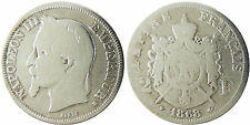 NAPOLEON  III  ,  2  FRANCS  ARGENT  ,  1868  BB  STRASBOURG  ,  RARE