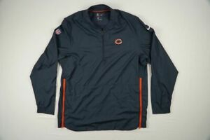 Chicago Bears Nike Pullover Men's Navy Poly Used Multiple Sizes