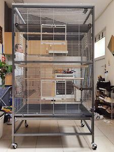 Voliere Zimmervoliere Vogelkäfig Käfig für Wellensittiche und co. Villa Casa 90