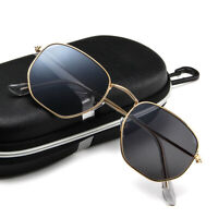 Vintage Retro John Lennon Metal Polygon Round Sunglasses Outdoor Shades Glasses