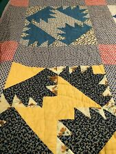 """Vintage 'Delectable Mountain"""" Variation'Quilt  """"Bear Claw"""""""