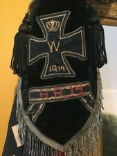 "Wwi 1914 Imperial German Iron Cross Podium 2-Sided Gorgeous Silk Flag 14""x14"""