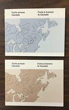 {BJ Stamps} CANADA, BK86-BK87, 1983, 1985, 32¢ & 34¢ Canada Forts bklts . CV $21