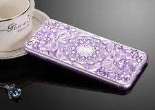 Bling Glitter Crystal Rubber Soft Silicone Case Cover For iPhone 5 6S 7 8 Plus