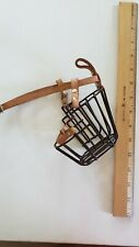 Wire Cage Basket Genuine Leather Muzzle size 6 on Strap