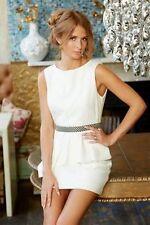 BNWT Ladies Ivory Embellished Waist Peplum Dress MILLIE MACKINTOSH - sz 12