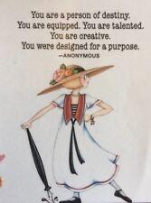 Mary Engelbreit Artwork-You Are A Person Of Destiny-Handmade Fridge Magnet