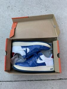 Nike Air Force 1 Sheed Low Rasheed Blue/Red 306347-411 Sz 8.5 2006 Preowned