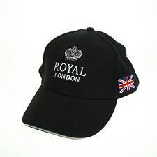 ROYAL LONDON Cap Basecap Schirmmütze Mütze Golfcap Cappy Union Jack schwarz