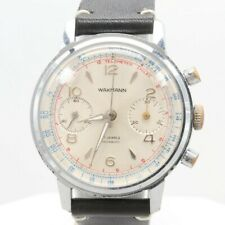 Wakmann Stainless Steel and Base Metal Chronograph Wristwatch, 1960