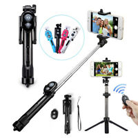 Extendable Selfie Stick Monopod Tripod Bluetooth Remote Shutter For Mobile Phone