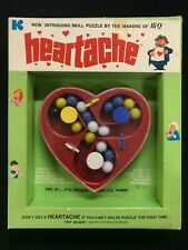 HEARTACHE vintage skill puzzle KOHNER  1971 marbles  IN BOX