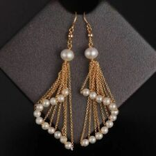 Amazing unique Design 14KGF earrings w/AAA+ White Freshwater Pearl