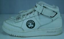 Men's Reebok White/Green BOSTON CELTICS NBA Basketball Hightop Shoes Sz 7.5 EUC