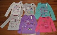 NEW NWT GAP GapKids Girls Glitter City Logo Long Sleeve T-Shirt 6-Styles *N1