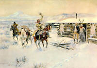 "Charles M. Russell ""Christmas at the Line Camp"""