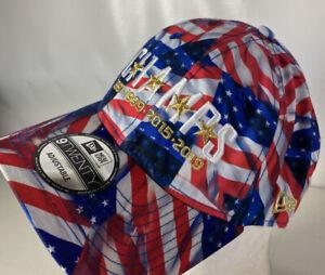 USA Soccer 4 Time World Cup CHAMPS Hat Cap Patriotic Flag 9Twenty Strapback NEW