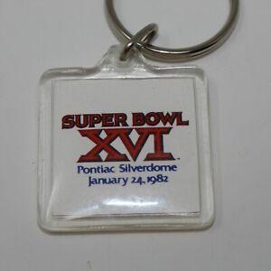 VTG Super Bowl XVI 16 Pontiac Silverdome Elias Bros Big Boy 1982 NFL Keychain