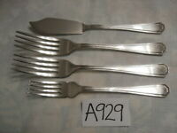 INSIGNIA PLATE GRECIAN ATHENIAN EPNS SILVER PLATE W TABLE DESSERT FORK & KNIVE