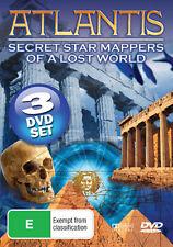 Atlantis:Secret Star Mappers of A Lost World 3 Disc DVD Set FREE POSTAGE