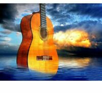 Musical Guitar Diamond Painting Embroidery Designs DIY Full Square Round Pattern