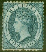 St Lucia 1863 (4d) Indigo SG7 Fin MTD Excellent État