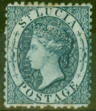 More details for st lucia 1863 (4d) indigo sg7 fine mtd mint