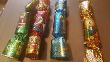 Vintage small xmas christmas Tree Crackers baubles retro foil
