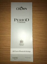 Crown Period Collection Paint Colours Chart Colour Card