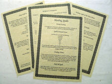 13 parchemin imprimer wicca guérison sorts livre des ombres PAGE SET spell BOS