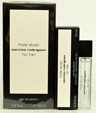 Pure Musc For Her by Narciso Rodriguez  100ml EDP Spray + 10ml Purse Spray  NEW