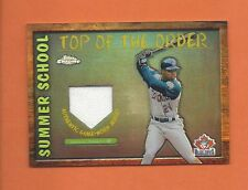 2002 TOPPS CHROME SUMMER SCHOOL SHANNON STEWART GAME-USED JERSEY #TOC-SS (A)
